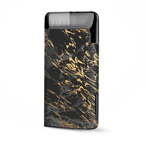 Gold Marble Dark Gray Background