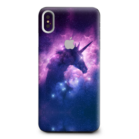 Unicorn Galaxy Cosmic Nebula Apple iPhone XS Max Skin