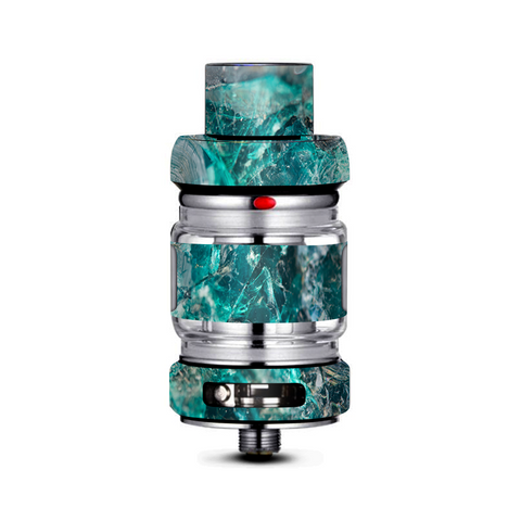 Chrysocolla Hydrated Copper Glass Teal Blue Freemax Mesh Pro Tank Skin