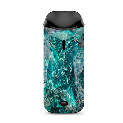 Chrysocolla Hydrated Copper Glass Teal Blue Vaporesso Nexus AIO Kit Skin