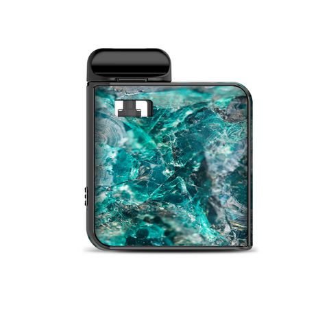 Chrysocolla Hydrated Copper Glass Teal Blue Smok Mico Kit Skin