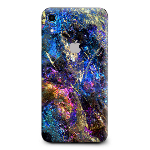 Chalcopyrite Colorful Purple Glass Rock Crystal Apple iPhone XR Skin