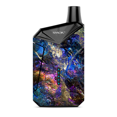 Chalcopyrite Colorful Purple Glass Rock Crystal Smok  X-Force AIO Kit  Skin
