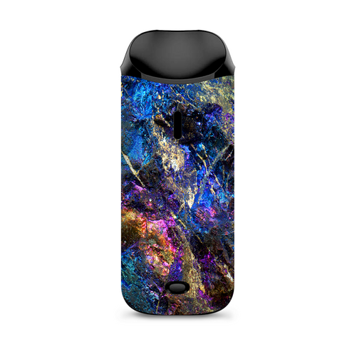 Chalcopyrite Colorful Purple Glass Rock Crystal Vaporesso Nexus AIO Kit Skin