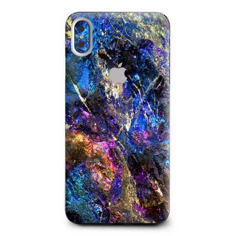 Chalcopyrite Colorful Purple Glass Rock Crystal Apple iPhone XS Max Skin