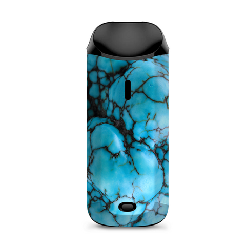 Blue Turquoise Stone Gem Rock Vaporesso Nexus AIO Kit Skin