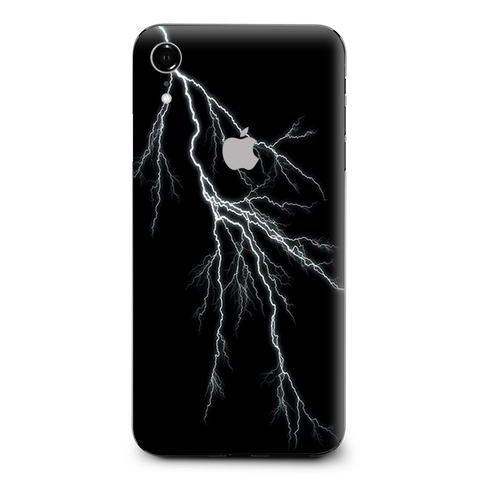 White Lighting Black Background Apple iPhone XR Skin