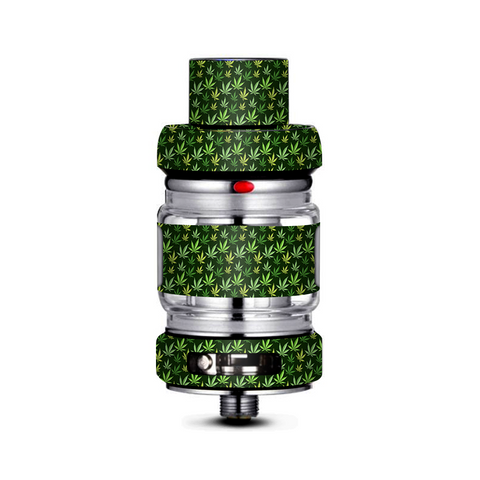 Pot Leaves Small Green Stoner Freemax Mesh Pro Tank Skin