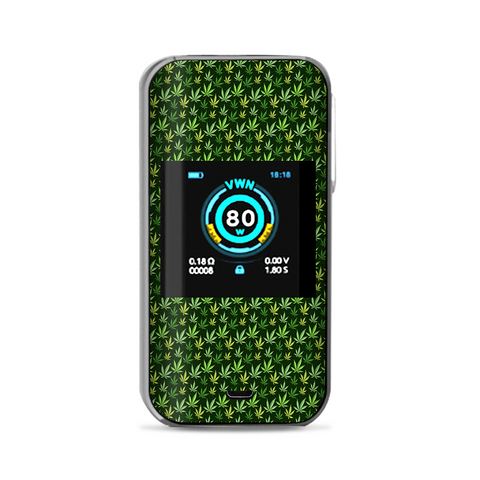 Pot Leaves Small Green Stoner Vaporesso Luxe Nano Kit Skin