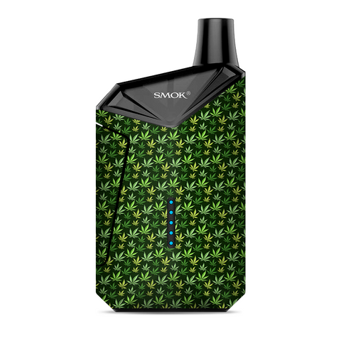Pot Leaves Small Green Stoner Smok  X-Force AIO Kit  Skin