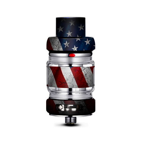 American Flag Distressed Wave Freemax Mesh Pro Tank Skin