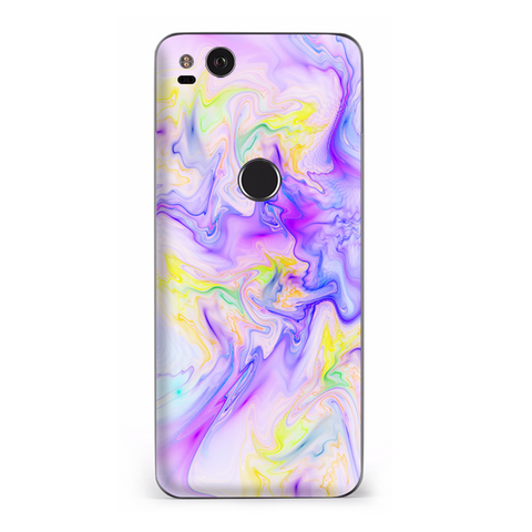 Pastel Marble Resin Pink Purple Swirls