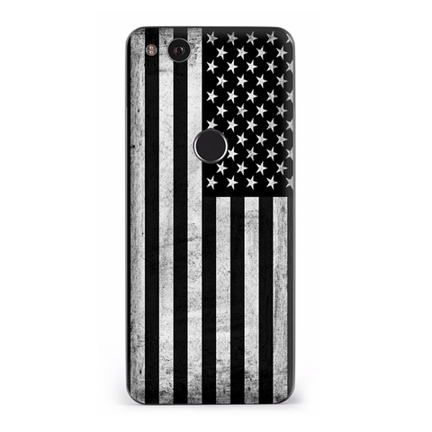 Black White Grunge Flag Usa America