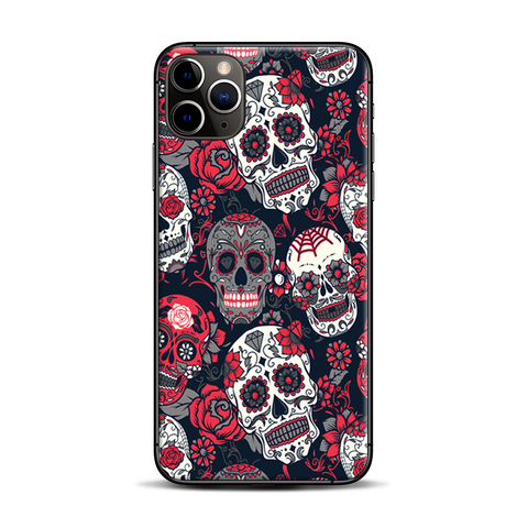Sugar Skulls Red Black Dia De Los
