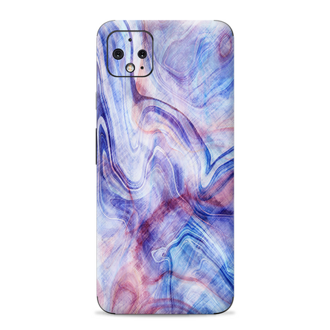 Purple Marble Pink Blue Swirl