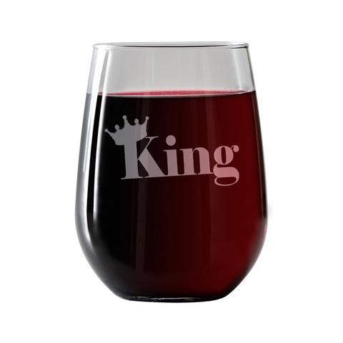 King  Stemless Wine Glass