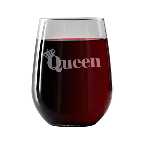 Queen  Stemless Wine Glass