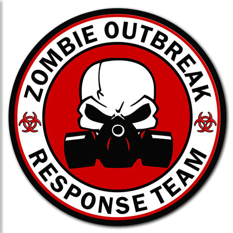 "Zombie Outbreak Response Team Sticker Zombies Walkers Dead Large 8"" Sticker"