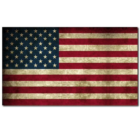 "American Flag Distressed Aged Bumper Sticker Decal Large 8"" Sticker"
