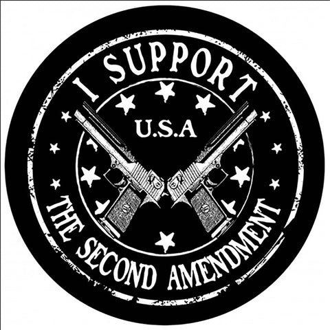 "I Support The Second Amendment 2Nd Sticker Decal America Rights Large 8"" Sticker"