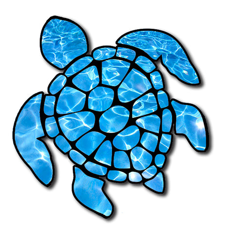 "Sea Turtle Under Water Ocean Clear Snorkel  Hawaii Turtle Sticker  Large 8"" Sticker"