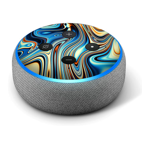 Blue Oragne Psychadelic Oil Slick