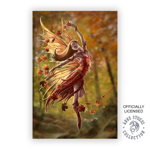 Anne Stokes Autumn Fairy  Decorative Sign