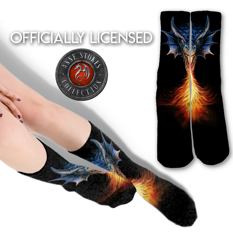Anne Stokes Fire Breather Socks