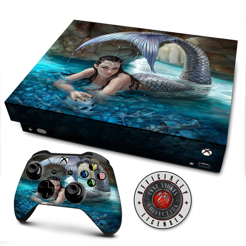 Anne Stokes Hidden Depths | Skin Decal Vinyl Wrap for xBox One X Console & Controller