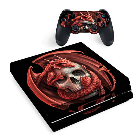 Anne Stokes Skull Embrace | Skin Decal Vinyl Wrap for Playstation PS4 Pro Console & Controller