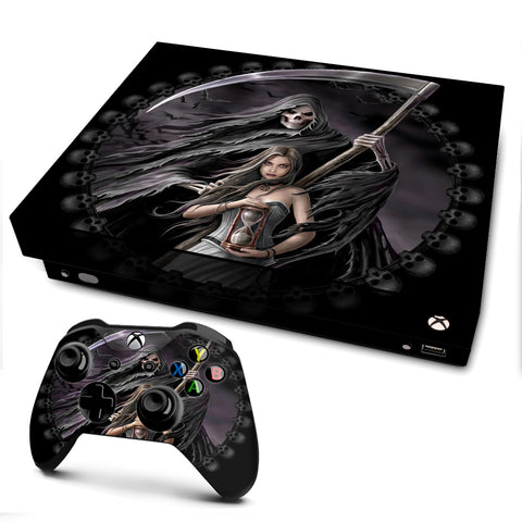 Anne Stokes Summon Reaper | Skin Decal Vinyl Wrap for xBox One X Console & Controller