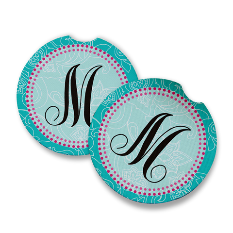 Monogram M Car Coaster