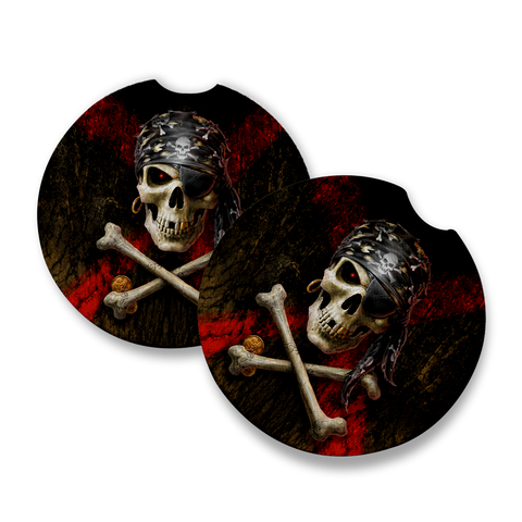 Anne Stokes Pirate Skull Car Coaster