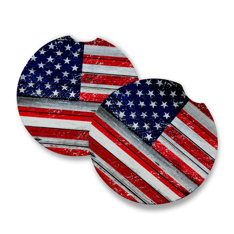 Distressed USA Flag Car Coaster