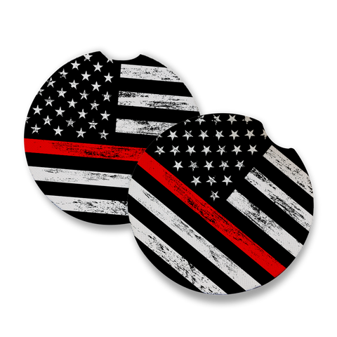 Thin Red Line Car Coaster