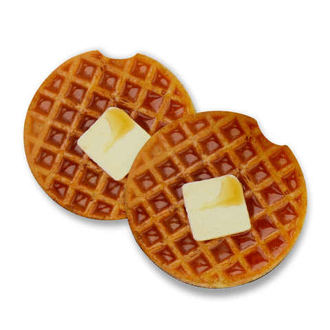 Round Waffle Butter Syrup