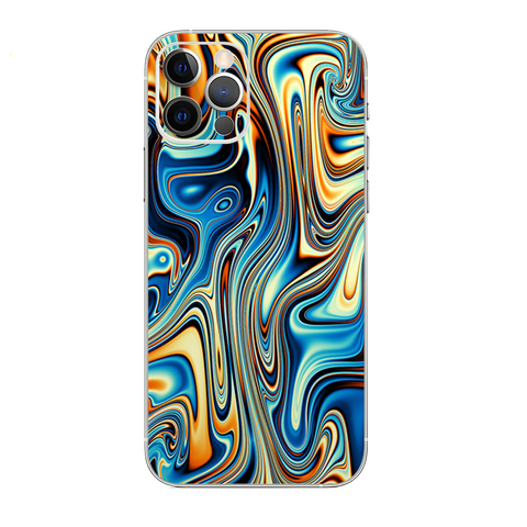 Blue Orange Psychadelic Oil Slick
