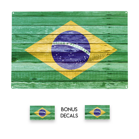 Brazil Brazilian Flag Decorative Sign
