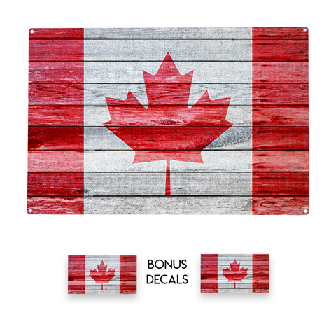 Canada Canadian Flag Decorative Sign