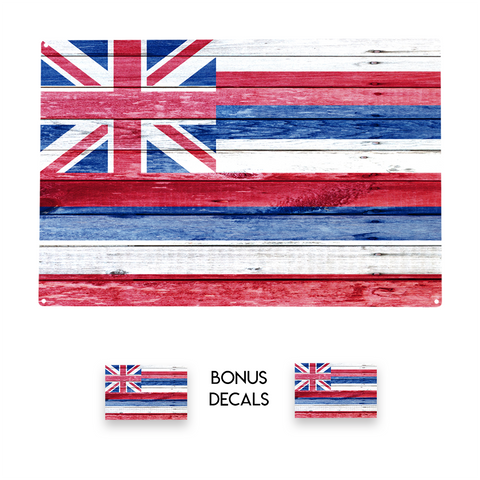 Hawaiian Hawaii Flag Decorative Sign
