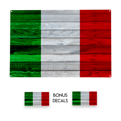 Italy Flag Decorative Sign
