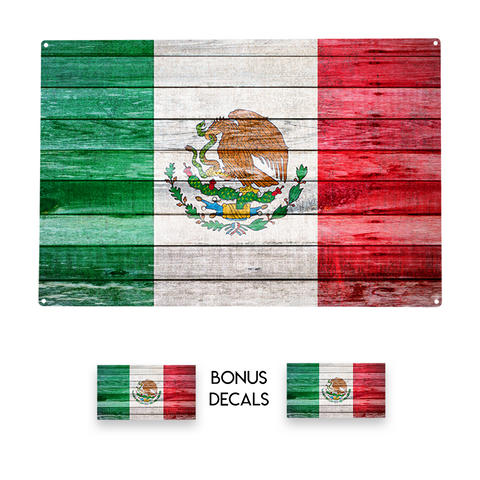 Mexico Flag Decorative Sign