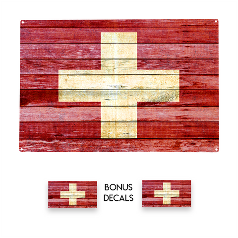 Switzerland Flag Decorative Sign