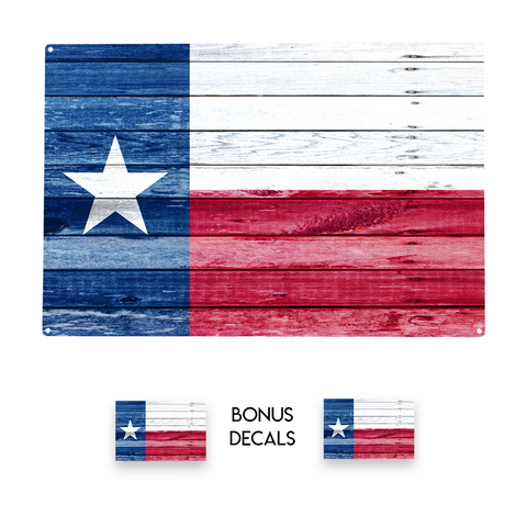 Texas The Lone Star State Flag Decorative Sign