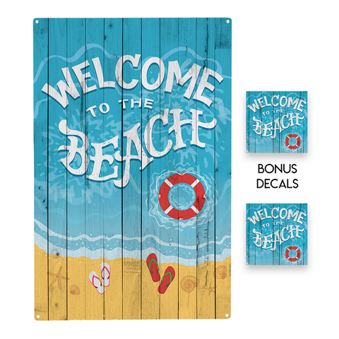 Welcome to the Beach  Decorative Sign
