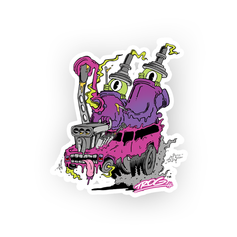 TROG Nail Heads Decal