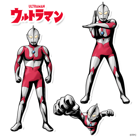 Ultraman Hero Illustration Character Decal Pack