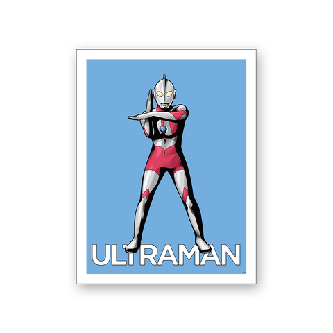 Ultraman Hero Fighting Stance Wall Poster
