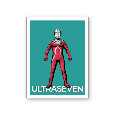 Ultraseven Hero Fighting Stance Wall Poster