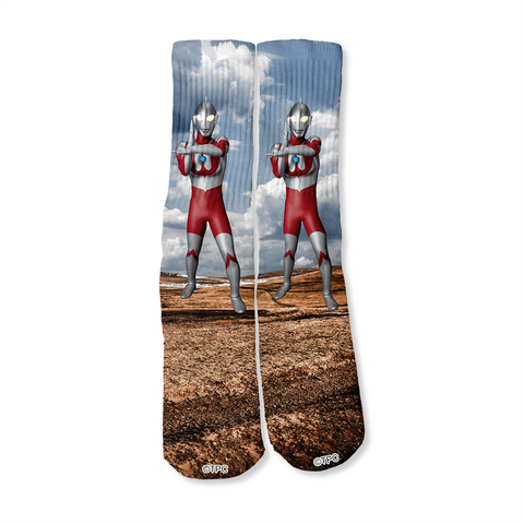 Ultraman Hero Fighting Stance Crew Socks